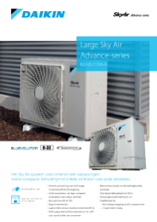 Daikin Large Sky Air Advance-series RZA-D productprofile ECPNL19-148