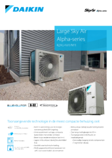 Daikin Large Sky Air Alpha-series RZAG-NV1-NY1 productprofile ECPNL19-147