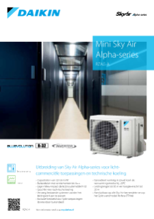 Daikin productflyer Mini Sky Air Alpha-series RZAG-A R-32 ECPNL19-146