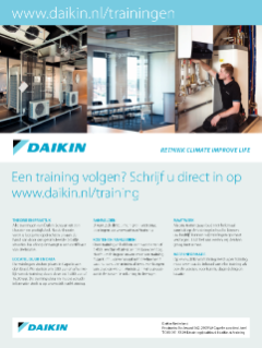 Flyer Daikin Academy trainingen 2020