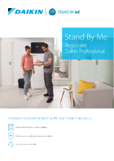 Stand By Me-registratie Daikin systeem-Professional